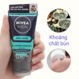 Sữa rửa mặt Nivea khoáng chất bùn 50g