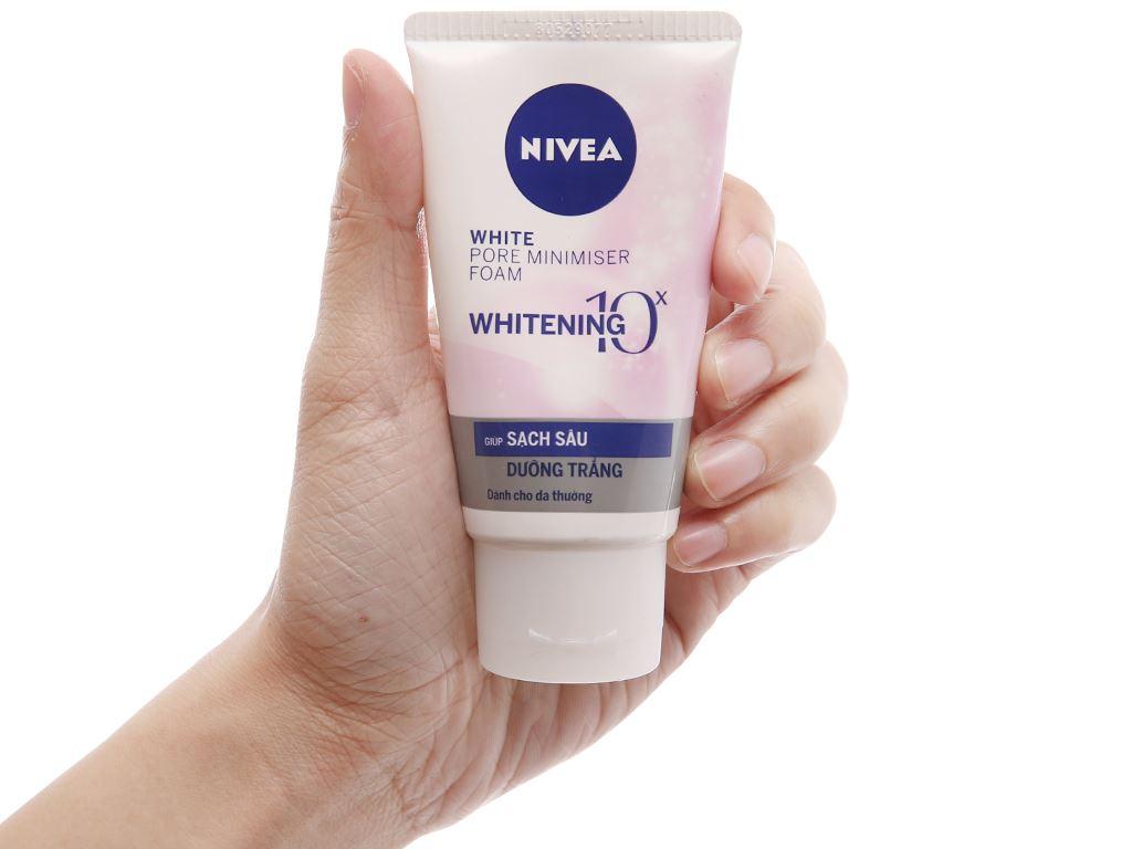 Sữa rửa mặt Nivea sạch sâu dưỡng trắng 50g 4