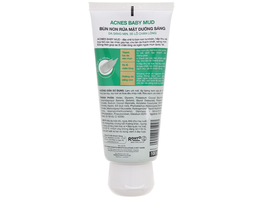 Bùn non rửa mặt dưỡng sáng Acnes 100g 3