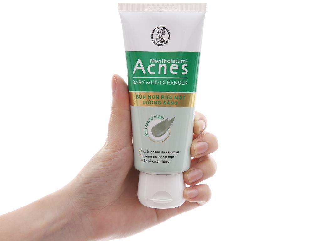 Bùn non rửa mặt Acnes dưỡng sáng 100g 4