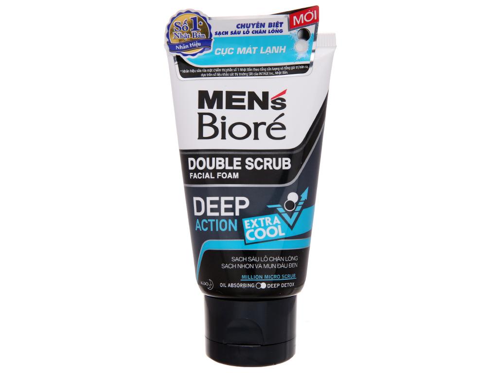 Sữa rửa mặt Bioré Men có hạt sạch sâu cực mát lạnh 50g 2