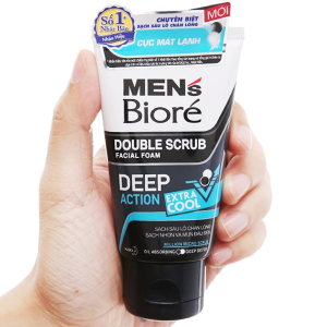 Sữa rửa mặt Men's Bioré tác động kép sạch sâu cực mát lạnh 50g