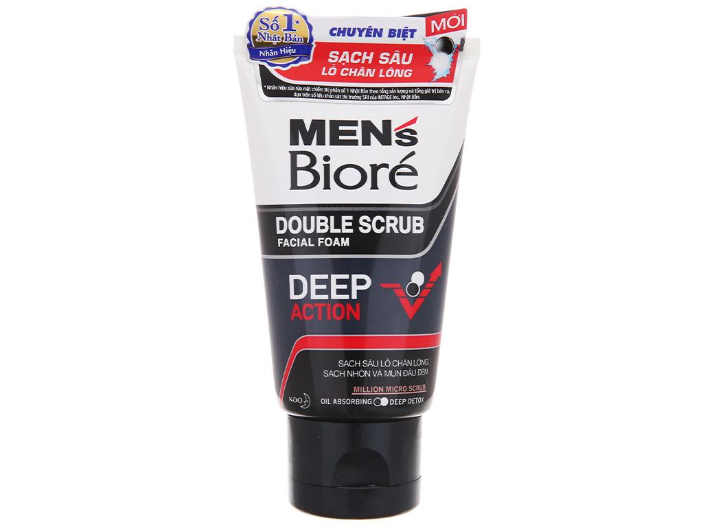 Sữa rửa mặt Bioré Men có hạt sạch sâu lỗ chân lông 50g 2