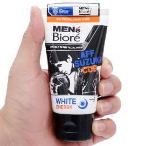 Sữa rửa mặt có hạt Men's Bioré tác động kép sạch sâu sáng da 50g