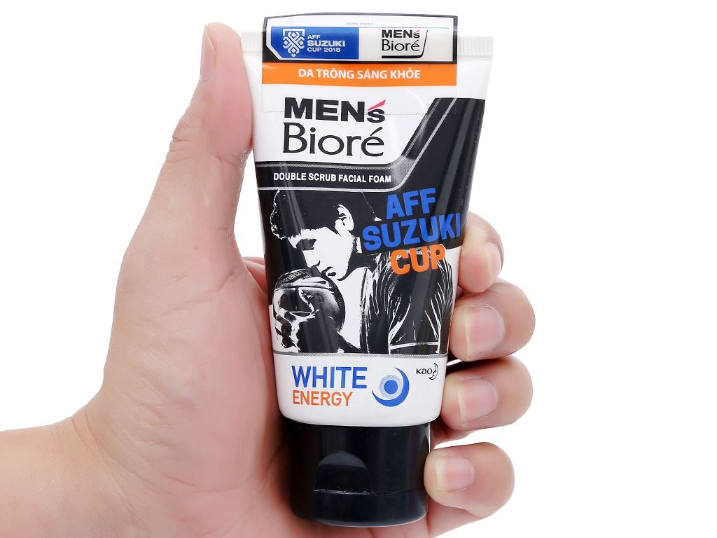 Sữa rửa mặt có hạt Men's Bioré tác động kép sạch sâu sáng da 50g 4