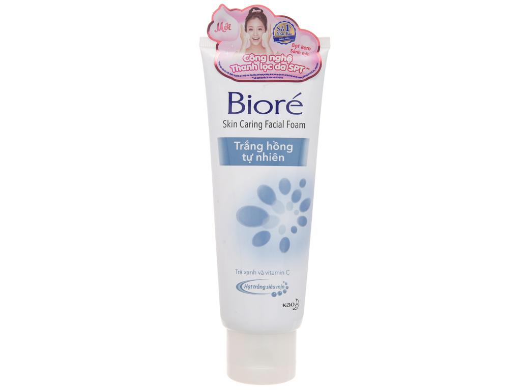Sữa rửa mặt Bioré hạt siêu mịn trắng hồng tự nhiên 100g 2