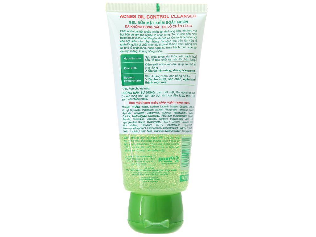 Gel rửa mặt Acnes kiểm soát nhờn 100g 3