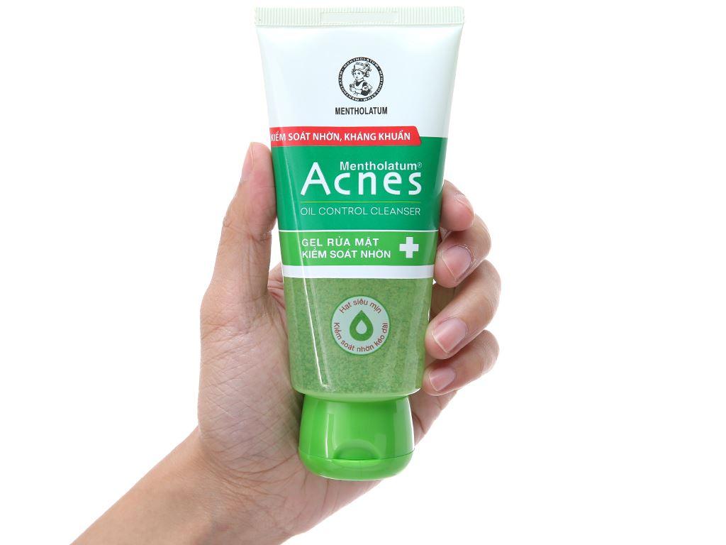 Gel rửa mặt Acnes kiểm soát nhờn 100g 4