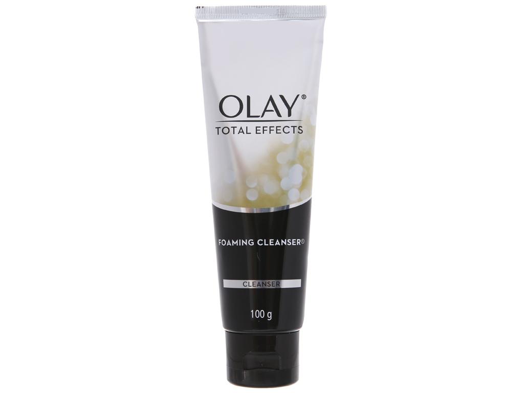 Sữa rửa mặt tạo bọt Olay Total Effects trẻ hóa da 100g 2