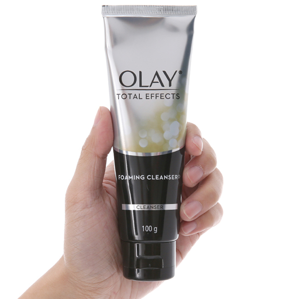 Sữa rửa mặt tạo bọt Olay Total Effects trẻ hóa da 100g
