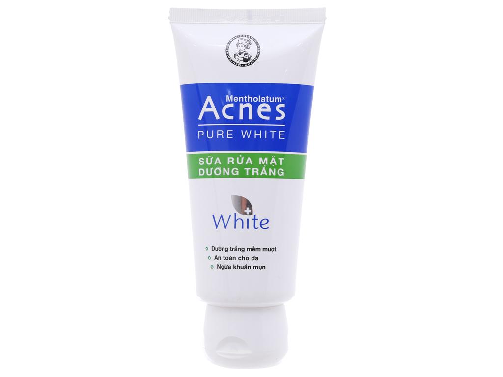 Sữa rửa mặt Acnes dưỡng trắng pure white 100g 2