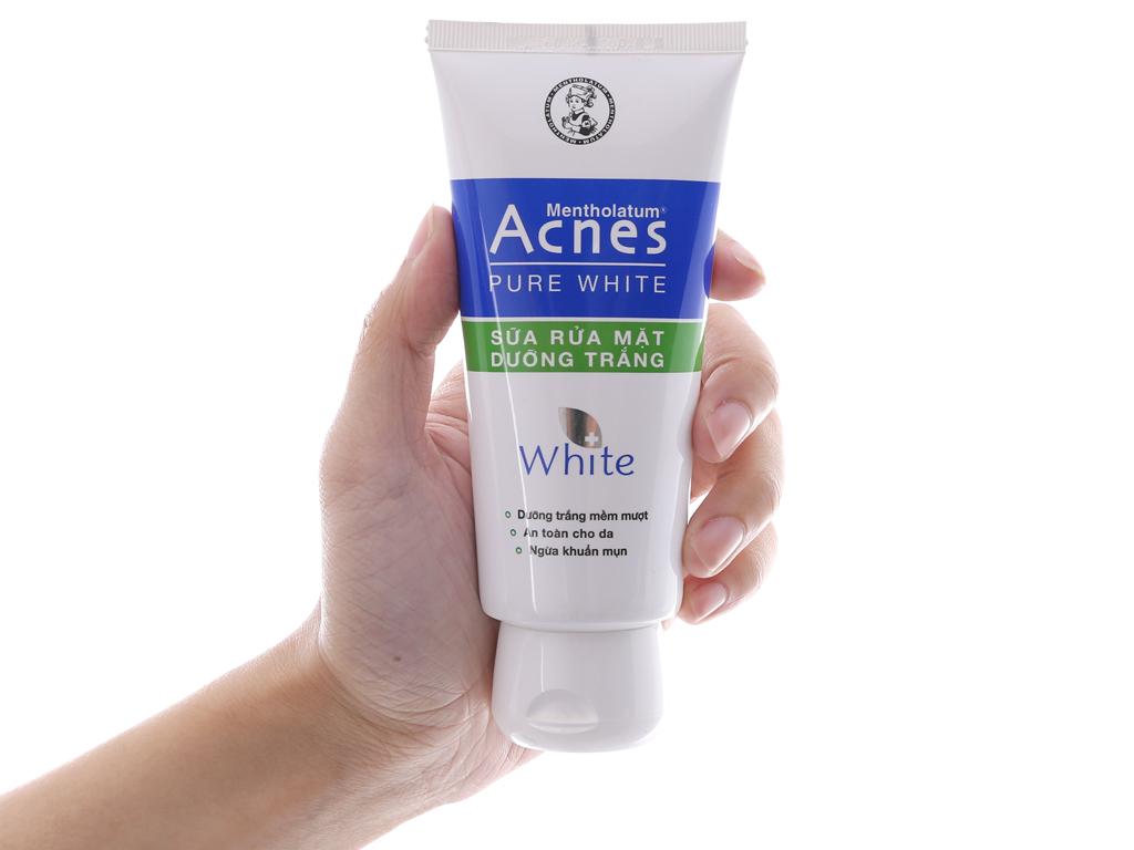 Sữa rửa mặt Acnes dưỡng trắng pure white 100g 4