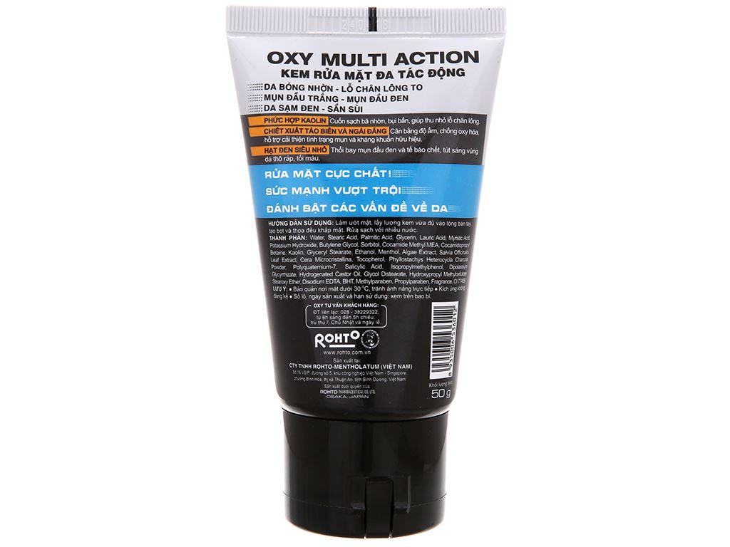 Kem rửa mặt đa tác động Oxy Multi Action 50g 3