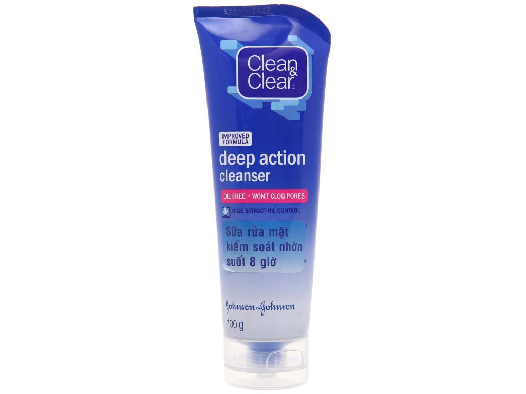 Sữa rửa mặt Clean & Clear kiểm soát nhờn suốt 8 giờ 100g 2