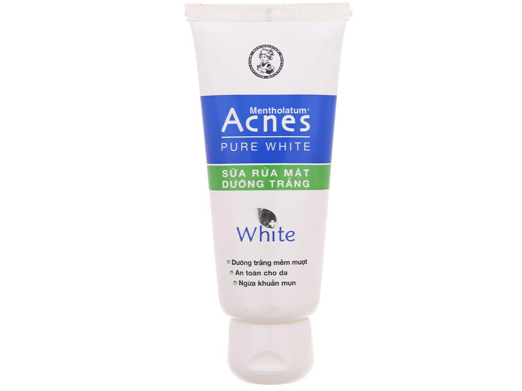 Sữa rửa mặt dưỡng trắng Acnes Pure White 50g 2