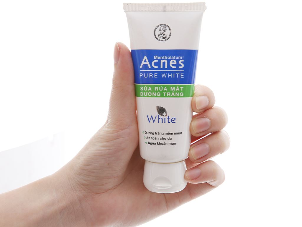 Sữa rửa mặt dưỡng trắng Acnes Pure White 50g 4