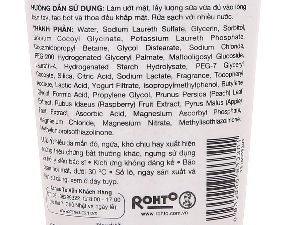 Sữa rửa mặt dưỡng trắng Acnes Pure White 50g 5