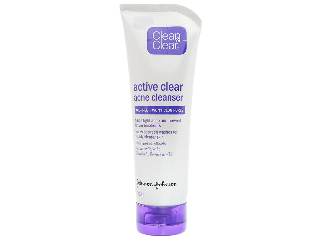 Sữa rửa mặt Clean & Clear ngăn ngừa mụn 100g 2