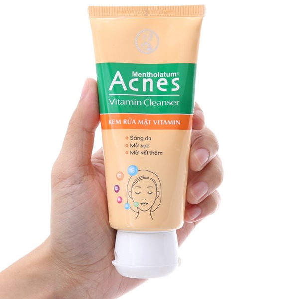 Kem rửa mặt Vitamin Acnes sáng da mờ sẹo và vết thâm 100g