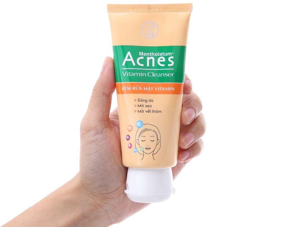 Kem rửa mặt Vitamin Acnes sáng da mờ sẹo và vết thâm 100g 7