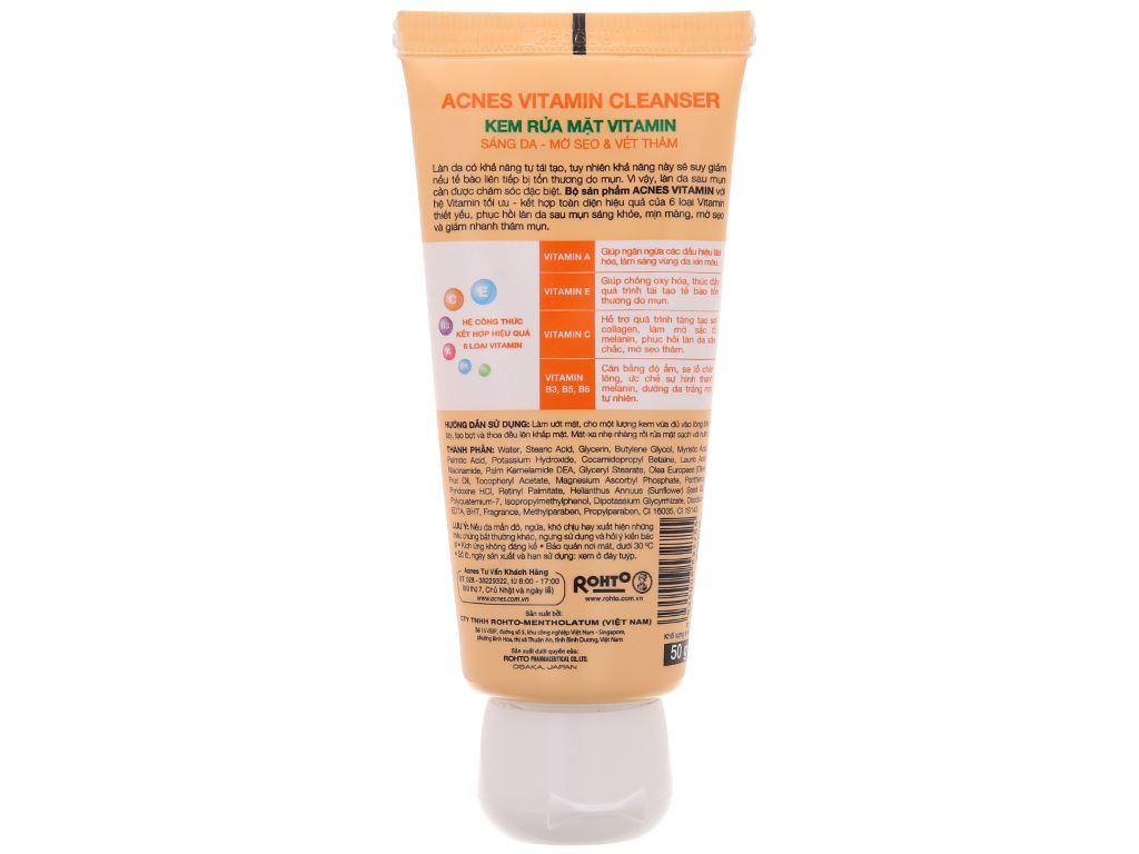 Kem rửa mặt Vitamin Acnes sáng da mờ sẹo và vết thâm 50g 3
