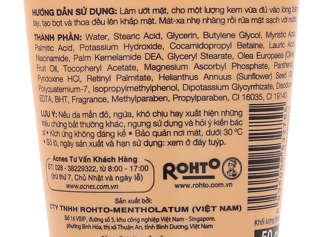 Kem rửa mặt Vitamin Acnes sáng da mờ sẹo và vết thâm 50g 5