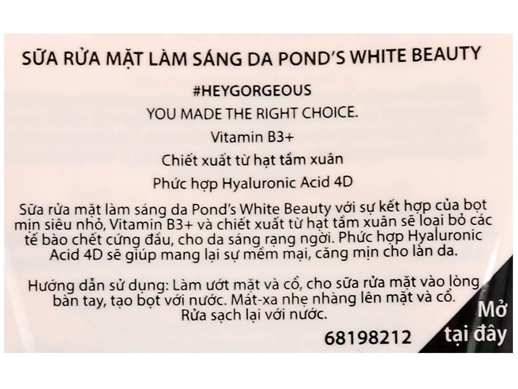 Sữa rửa mặt sáng da Pond's White Beauty 100g 3