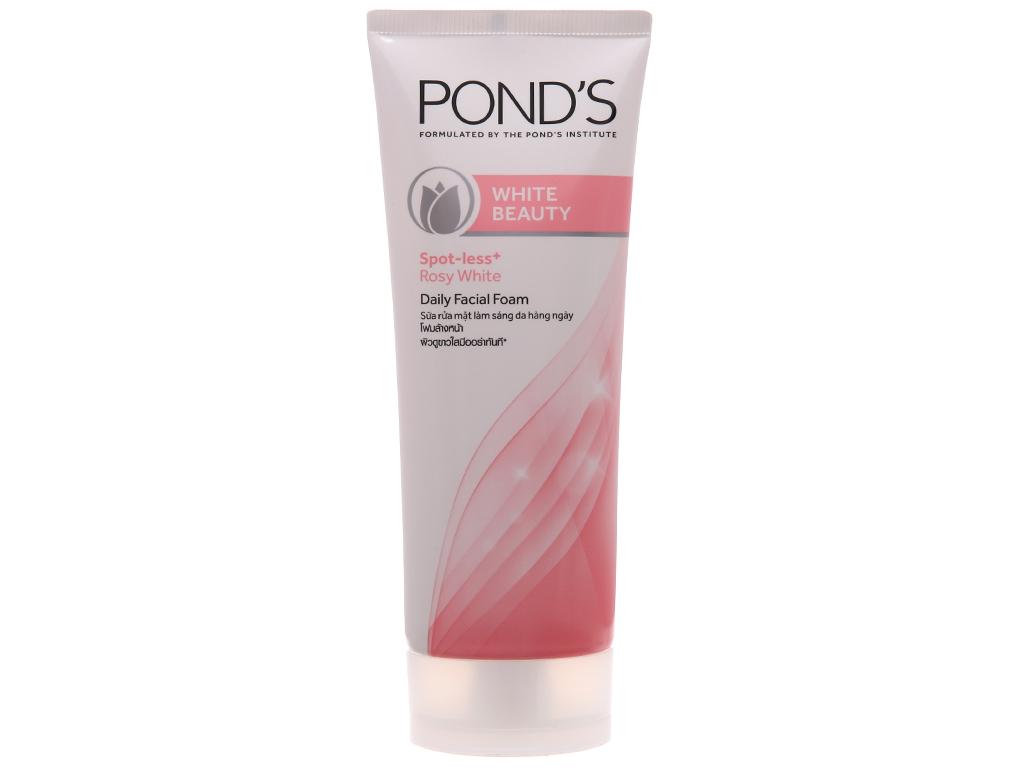 Sữa rửa mặt POND'S White Beauty trắng hồng rạng rỡ 100g 2