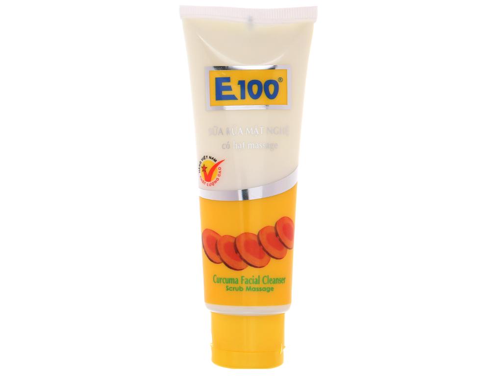 Sữa rửa mặt nghệ E100 có hạt massage 100g 2