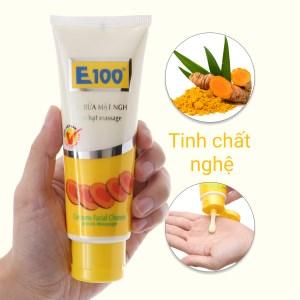 Sữa rửa mặt nghệ có hạt massage E100 100g