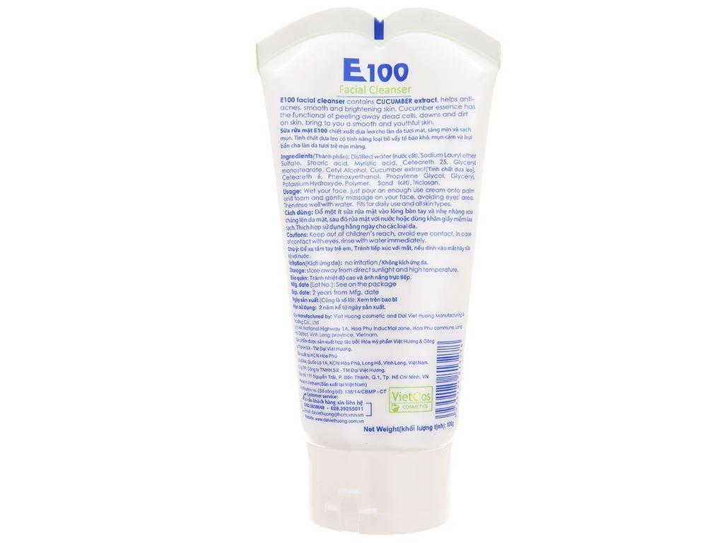 Sữa rửa mặt E100 dưa leo 100g 3