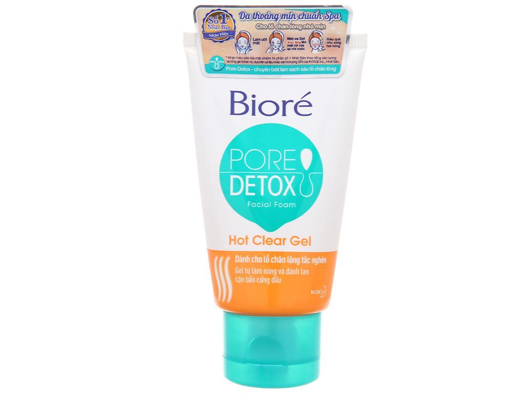 Sữa rửa mặt Bioré Pore Detox sạch sâu lỗ chân lông 50g 2