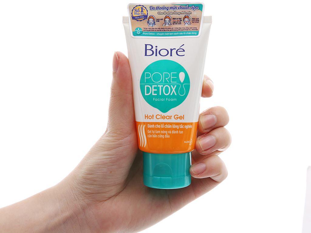 Sữa rửa mặt Bioré Pore Detox sạch sâu lỗ chân lông 50g 4
