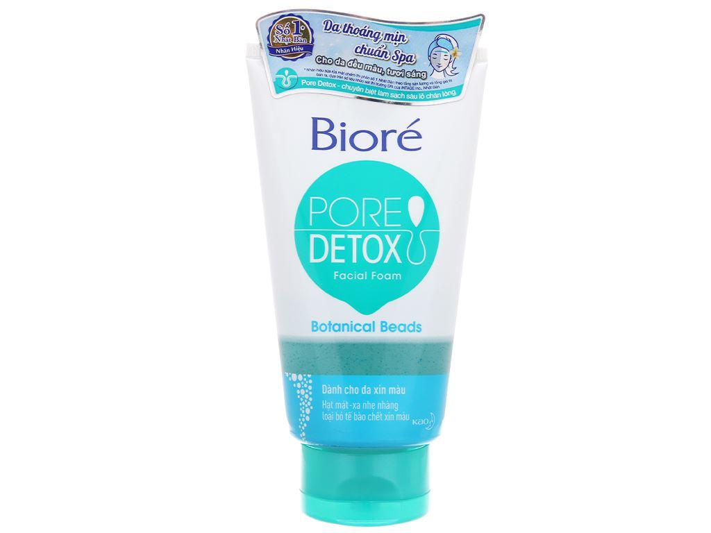 Sữa rửa mặt có hạt Bioré Pore Detox đều màu da 100g 2