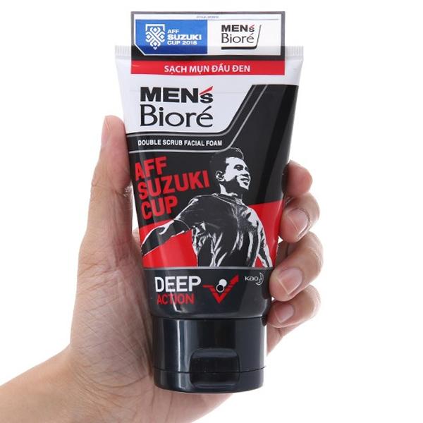Sữa rửa mặt có hạt Men's Bioré sạch mụn đầu đen 100g