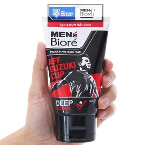 Sữa rửa mặt có hạt Men's Bioré tác động kép sạch sâu 100g