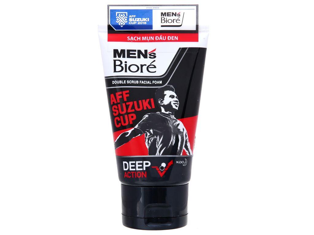 Sữa rửa mặt có hạt Men's Bioré sạch mụn đầu đen 100g 2