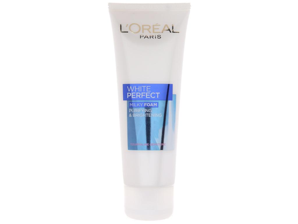 Sữa rửa mặt làm sạch và trắng mịn da L'Oréal White Perfect 100ml 2