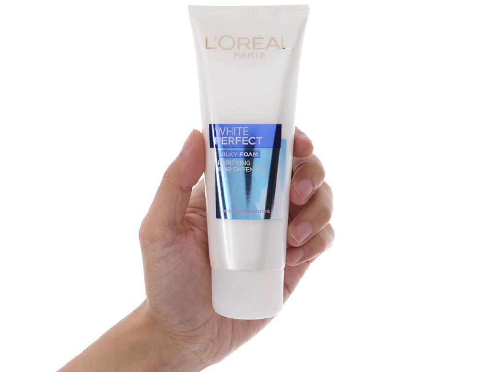 Sữa rửa mặt làm sạch và trắng mịn da L'Oréal White Perfect 100ml 7