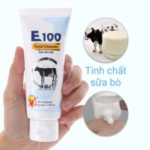 Sữa rửa mặt E100 tinh chất sữa bò 80ml