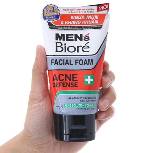 Sữa rửa mặt Men's Bioré ngừa mụn kháng khuẩn 100g