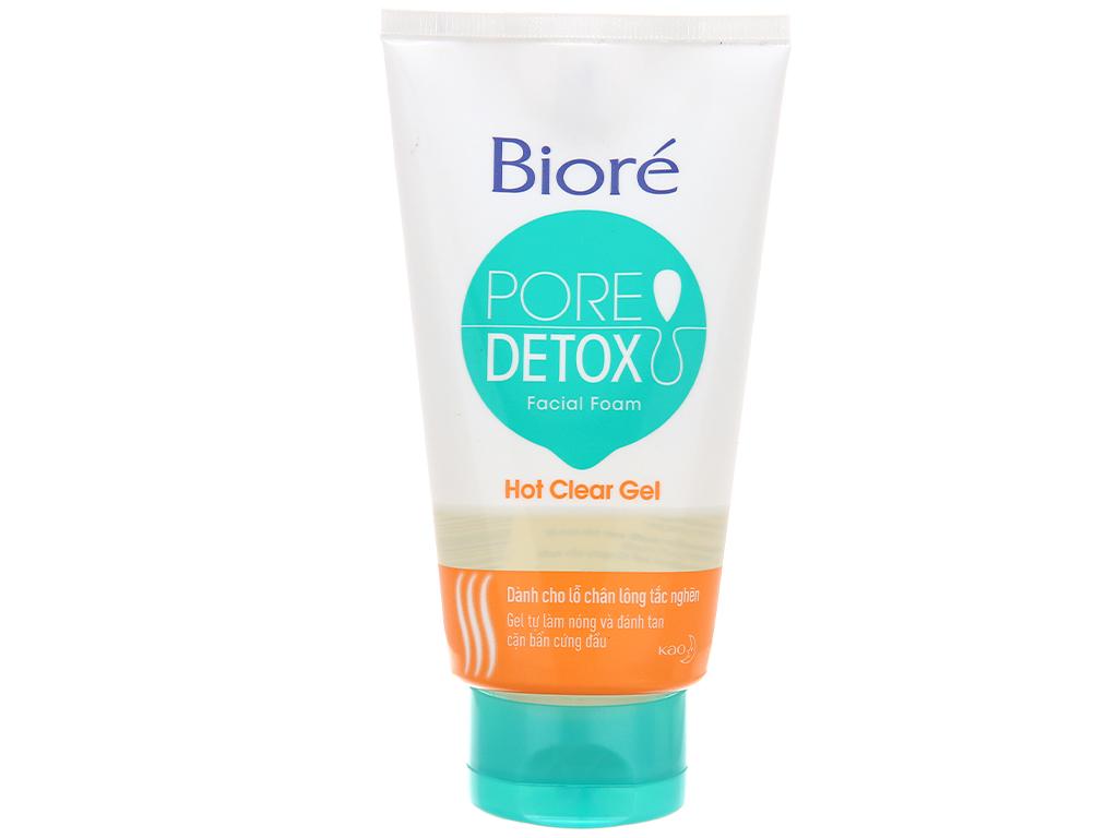 Sữa rửa mặt Bioré Pore Detox sạch sâu lỗ chân lông 100g 2