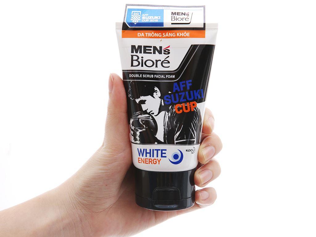 Sữa rửa mặt Men's Bioré tác động kép sạch sâu da sáng khỏe 100g 4