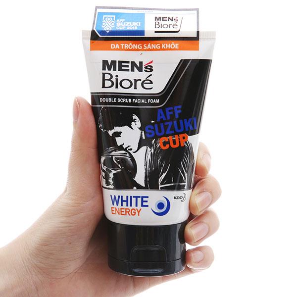 Sữa rửa mặt có hạt Men's Bioré tác động kép sạch sâu da sáng khỏe 100g