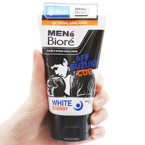 Sữa rửa mặt Men's Bioré tác động kép sạch sâu da sáng khỏe 100g