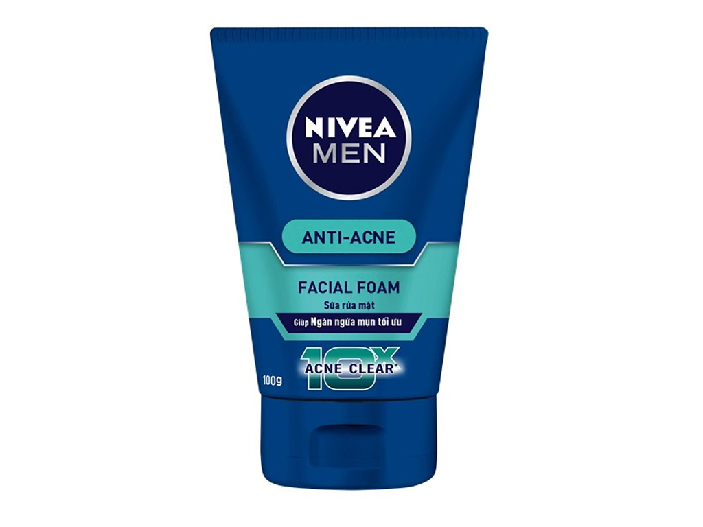 Sữa rửa mặt Nivea Facial Foam ngăn ngừa mụn tối ưu 100g 2