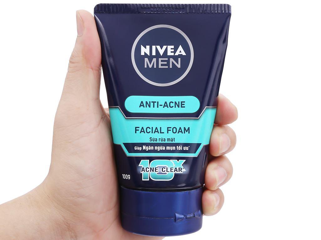 Sữa rửa mặt Nivea ngăn ngừa mụn tối ưu 100g 4