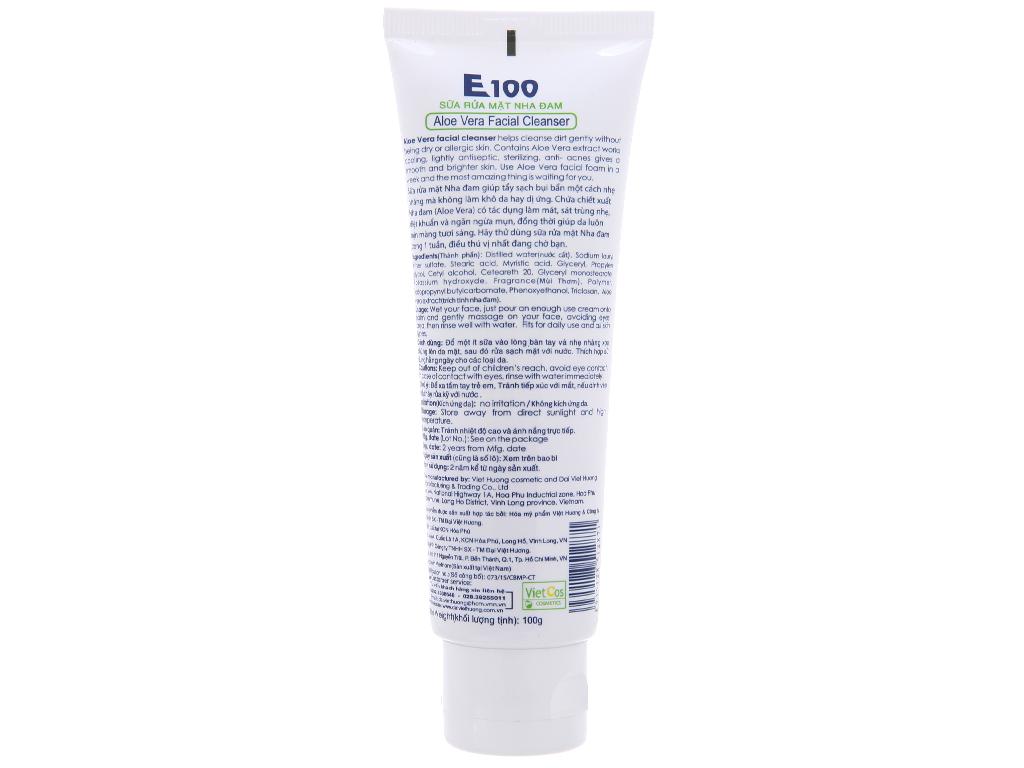 Sữa rửa mặt nha đam E100 100g 3