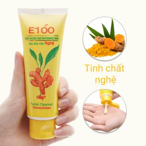 Sữa rửa mặt nghệ E100 100g