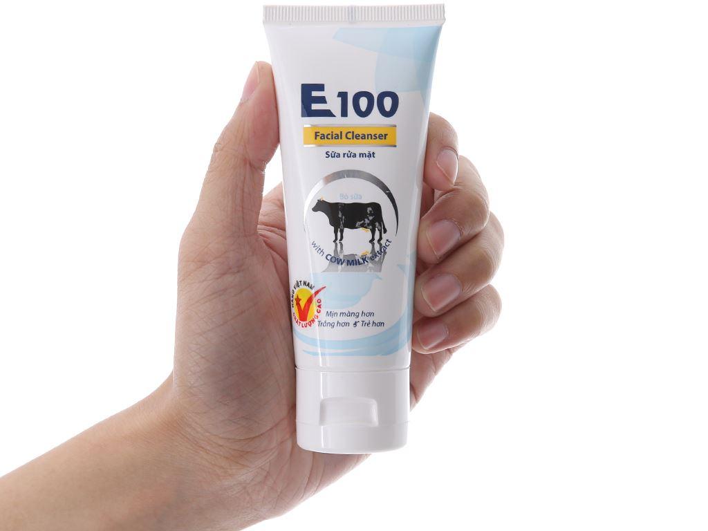 Sữa rửa mặt E100 tinh chất sữa bò 50ml 4